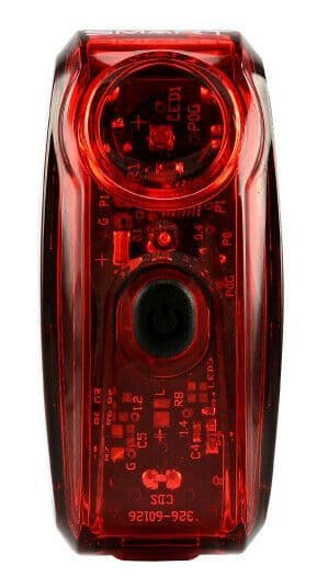 Smart RL326R Trail 80 ( 80 Lumens ) Bright Rear Bike Battery Tail Light LED Red